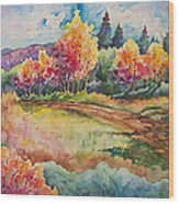 Autumn Near Taos Wood Print