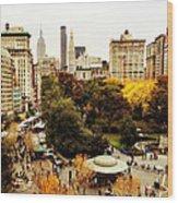 Autumn - New York Wood Print by Vivienne Gucwa