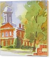 Autumn Observations Watercolor Wood Print