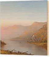 Autumn On The Hudson Wood Print