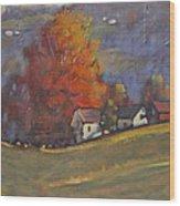 Autumn On Airyhill Wood Print