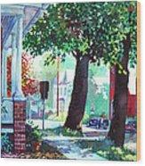 Autumn On East Main Wood Print