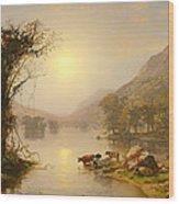 Autumn On Greenwood Lake Wood Print