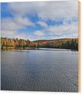 Autumn On Lake Plumbago Wood Print