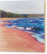 Autumn On Lake Superior Wood Print