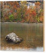 Autumn On Meramec River Wood Print