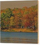 Autumn On Mt Noris Lake Wood Print by Victoria Sheldon
