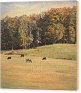 Autumn On The Farm Wood Print