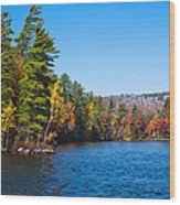 Autumn On The Fulton Chain Of Lakes In The Adirondacks IIi Wood Print