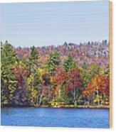 Autumn On The Fulton Chain Of Lakes In The Adirondacks Iv Wood Print