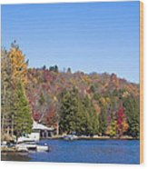 Autumn On The Fulton Chain Of Lakes In The Adirondacks V Wood Print