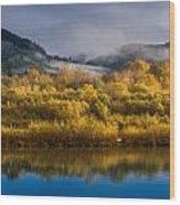 Autumn On The Klamath 1 Wood Print