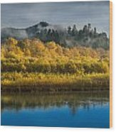 Autumn On The Klamath 2 Wood Print