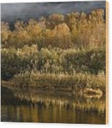 Autumn On The Klamath 3 Wood Print