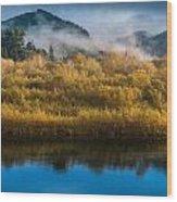 Autumn On The Klamath 5 Wood Print