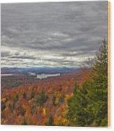 Autumn On Top Of Mccauley Mountain Wood Print