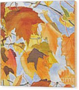 Autumn Outside My Window Wood Print