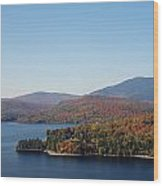 Autumn Over Moosehead Lake Wood Print