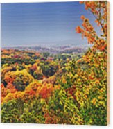 Autumn Over The Rolling Hills Wood Print