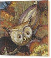 Autumn Owl Wood Print