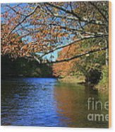 Autumn Paddle On The Quinnebaug  Wood Print