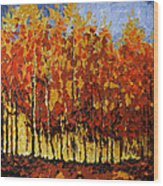 Autumn Palette Wood Print by Vickie Warner
