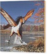 Autumn Pegasus Wood Print