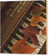 Autumn Piano 11 Wood Print