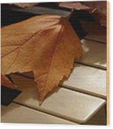 Autumn Piano 12 Wood Print