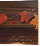 Autumn Piano 3 Wood Print