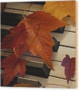 Autumn Piano 6 Wood Print