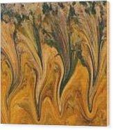 Autumn Pixies Wood Print