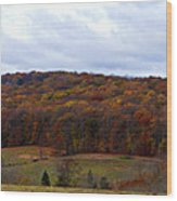 Autumn Postcard From Valley Forge Wood Print