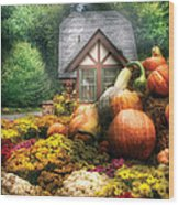Autumn - Pumpkin - This Years Harvest Was Awesome  Wood Print