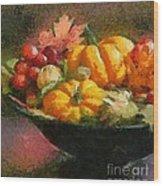 Autumn Pumpkins Wood Print