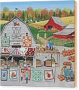 Autumn Quilts Wood Print
