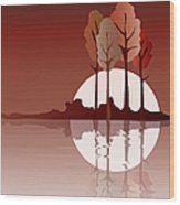 Autumn Reflected Wood Print by Jane Rix