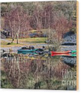 Autumn Reflections Wood Print by Adrian Evans