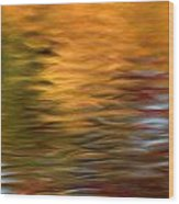 Autumn Reflections In Pond Wood Print