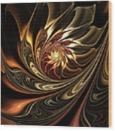 Autumn Reverie Abstract Wood Print