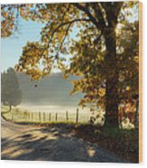 Autumn Road Wood Print by Bill Wakeley