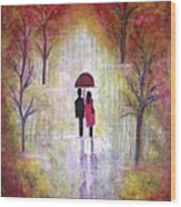 Autumn Romance Wood Print