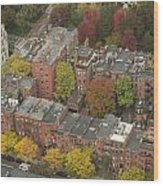 Autumn Rooftops Of Boston Wood Print by Gordon  Grimwade