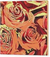 Autumn Roses On Your Wall Wood Print
