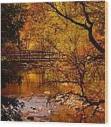 Autumn Scene Wood Print
