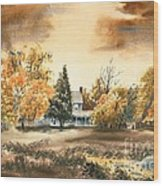 Autumn Sky No W103 Wood Print by Kip DeVore
