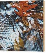 Autumn Snow Wood Print