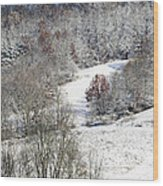Autumn Snow West Virginia Wood Print