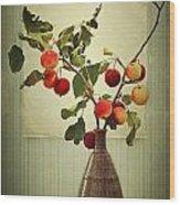 Autumn Stillife Wood Print
