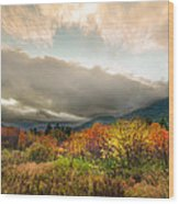 Autumn Storm Clearing Wood Print
